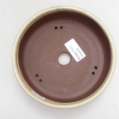 Bonsaischale aus Keramik 15,5 x 15,5 x 5 cm, Farbe beige - 3