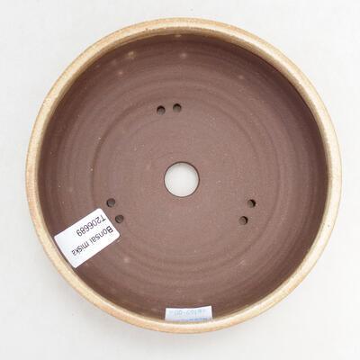 Bonsaischale aus Keramik 15 x 15 x 5 cm, Farbe beige - 3