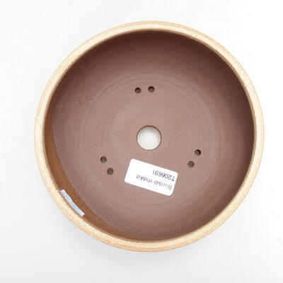 Bonsaischale aus Keramik 14,5 x 14,5 x 6 cm, Farbe beige - 3