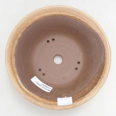 Bonsaischale aus Keramik 16,5 x 16,5 x 6 cm, Farbe beige - 3