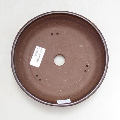Bonsaischale aus Keramik 16,5 x 16,5 x 4 cm, braune Farbe - 3