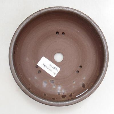 Bonsaischale aus Keramik 15 x 15 x 5,5 cm, braune Farbe - 3