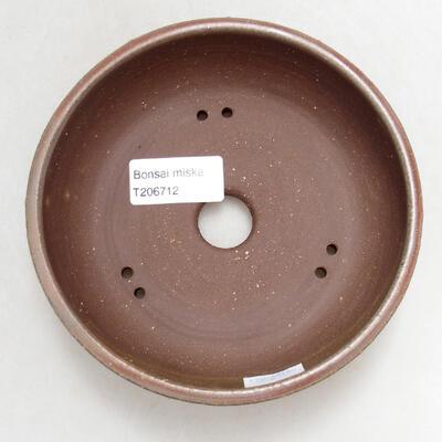 Bonsaischale aus Keramik 13,5 x 13,5 x 4,5 cm, Farbe grün - 3
