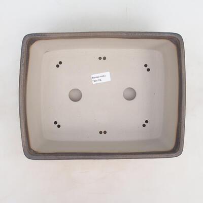 Bonsai-Schale 30 x 23 x 10 cm, grau-beige Farbe - 3