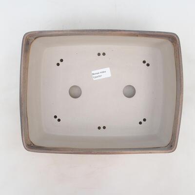Bonsai-Schale 30 x 23 x 9 cm, grau-beige Farbe - 3