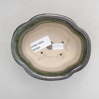 Bonsaischale aus Keramik 13 x 11 x 5,5 cm, Farbe grün - 3