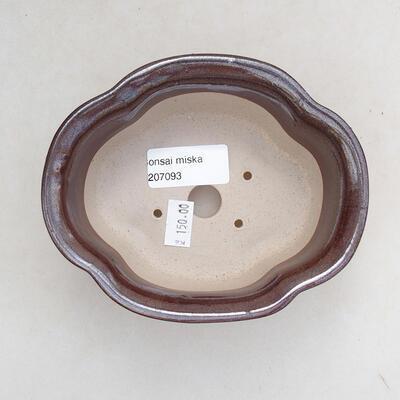 Bonsaischale aus Keramik 13 x 11 x 5,5 cm, braune Farbe - 3