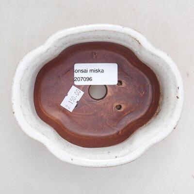 Bonsaischale aus Keramik 13 x 11 x 5,5 cm, weiße Farbe - 3