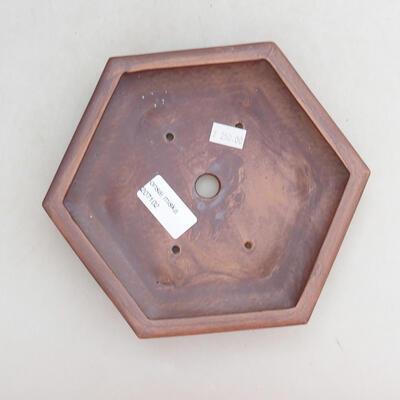 Bonsaischale aus Keramik 18 x 16 x 4 cm, graue Farbe - 3