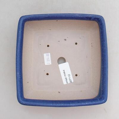 Bonsaischale aus Keramik 15,5 x 15,5 x 5,5 cm, Farbe blau - 3