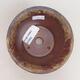 Bonsaischale aus Keramik 11 x 11 x 7 cm, Farbe braun-grün - 3/3
