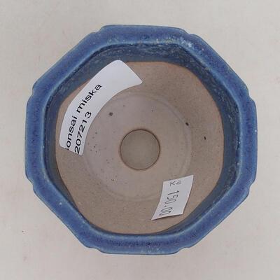Bonsaischale aus Keramik 7 x 7 x 5,5 cm, Farbe blau - 3