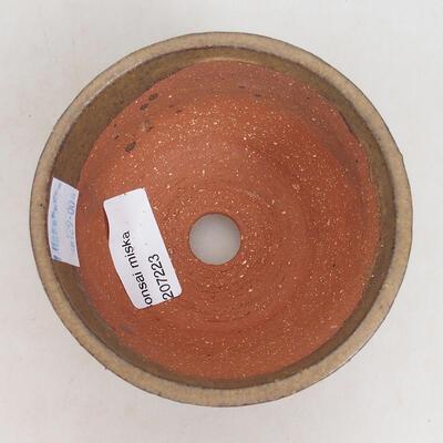 Bonsaischale aus Keramik 10,5 x 10,5 x 6 cm, braune Farbe - 3