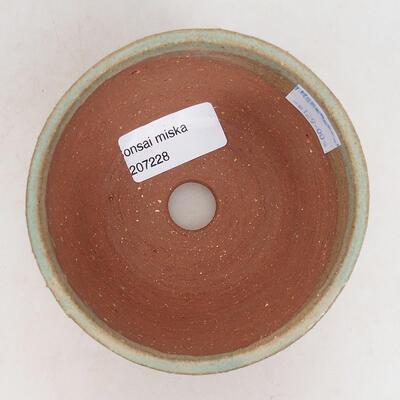 Bonsaischale aus Keramik 10 x 10 x 6,5 cm, Farbe grün - 3