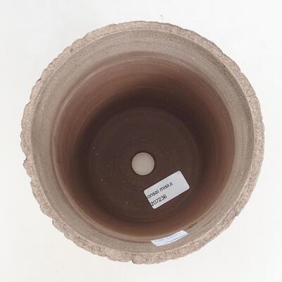 Bonsaischale aus Keramik 15 x 15 x 17 cm, Farbe rissig - 3