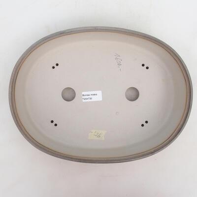 Bonsai-Schale 33 x 24,5 x 7 cm, grau-beige Farbe - 3