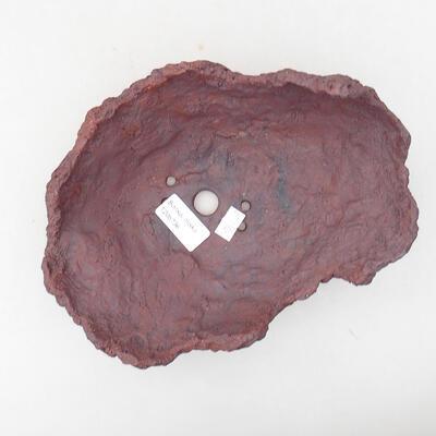 Keramikschale 21 x 16 x 13 cm, graue Farbe - 3