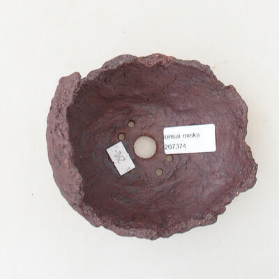 Keramikschale 11 x 10,5 x 11,5 cm, graue Farbe - 3