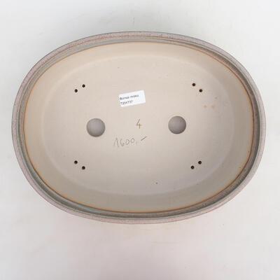 Bonsai-Schale 34 x 26 x 9,5 cm, grau-beige Farbe - 3
