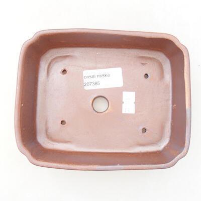 Bonsaischale aus Keramik 15 x 12 x 4,5 cm, Farbe braun - 3