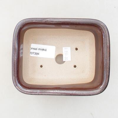 Bonsaischale aus Keramik 13 x 10 x 5,5 cm, braune Farbe - 3