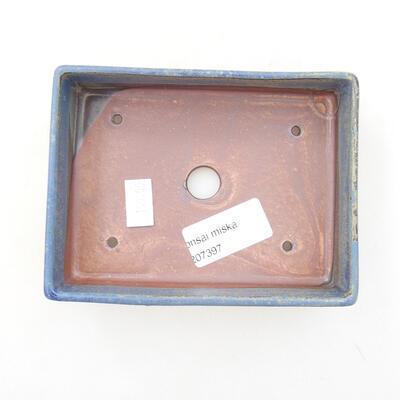 Bonsaischale aus Keramik 13 x 9,5 x 3,5 cm, Farbe blau - 3