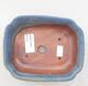 Bonsaischale aus Keramik 15 x 12 x 4,5 cm, Farbe blau - 3/3