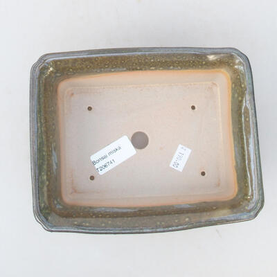 Keramische Bonsai-Schale 18 x 14 x 7 cm, Farbe grün - 3