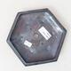 Bonsaischale aus Keramik 16 x 14,5 x 3,5 cm, metallfarben - 3/3
