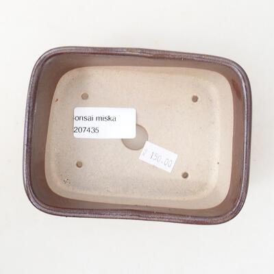 Bonsaischale aus Keramik 12 x 9 x 5 cm, braune Farbe - 3