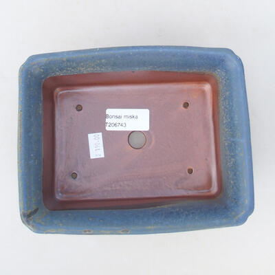 Keramische Bonsai-Schale 18 x 14 x 7 cm, Farbe blau - 3