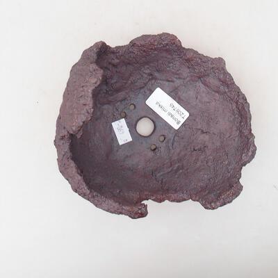 Keramikschale 14 x 12 x 15 cm, graue Farbe - 3