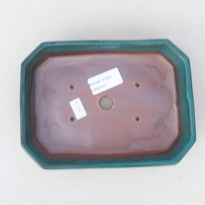 Keramische Bonsai-Schale 18 x 13 x 4 cm, Farbe grün - 3