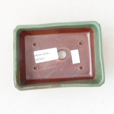 Bonsaischale aus Keramik 12,5 x 9 x 4,5 cm, Farbe grün - 3