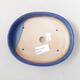 Bonsaischale aus Keramik 17 x 13,5 x 3,5 cm, Farbe blau - 3/3