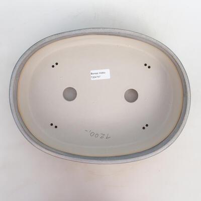 Bonsai-Schale 33 x 25 x 7,5 cm, grau-beige Farbe - 3