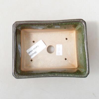 Bonsaischale aus Keramik 13 x 10 x 5 cm, Farbe grün - 3
