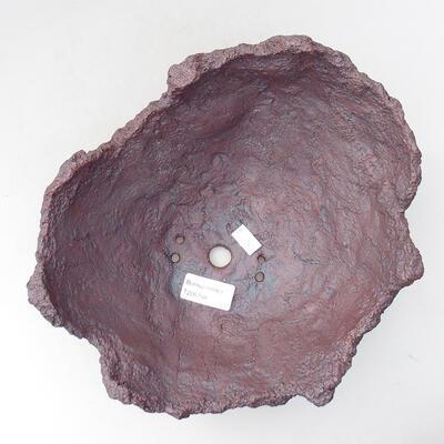 Keramikschale 21 x 20 x 16 cm, graue Farbe - 3