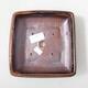 Keramik-Bonsaischale 15 x 15 x 5,5 cm, Farbe braun-schwarz - 3/3