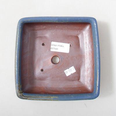 Bonsaischale aus Keramik 15 x 15 x 5,5 cm, Farbe blau - 3
