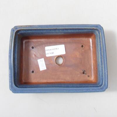 Bonsaischale aus Keramik 16 x 11 x 5 cm, Farbe blau - 3
