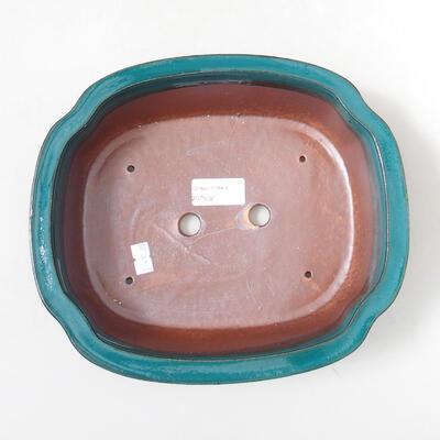 Bonsaischale aus Keramik 23 x 20 x 7 cm, Farbe grün - 3