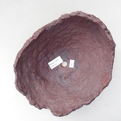 Keramikschale 20 x 18 x 18 cm, graue Farbe - 3