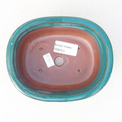 Keramische Bonsai-Schale 14 x 11 x 5,5 cm, Farbe grün - 3