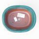 Keramische Bonsai-Schale 14 x 11 x 5,5 cm, Farbe grün - 3/3