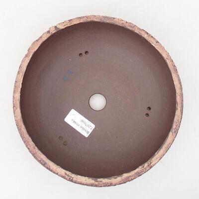 Bonsaischale aus Keramik 19 x 19 x 6,5 cm, Farbe rissig - 3