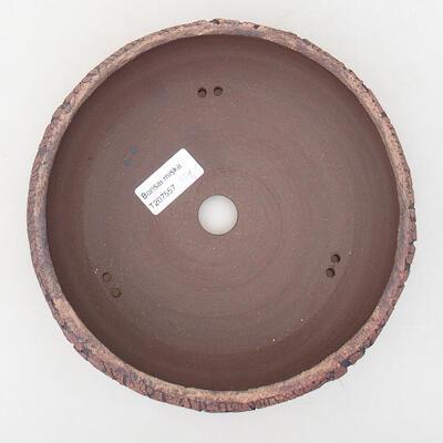 Bonsaischale aus Keramik 19 x 19 x 7 cm, Farbe rissig - 3