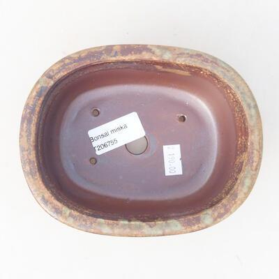 Keramische Bonsai-Schale 14 x 11 x 5,5 cm, braune Farbe - 3