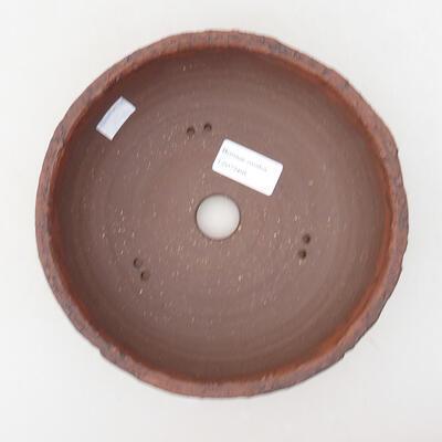 Bonsaischale aus Keramik 18,5 x 18,5 x 7 cm, rissige Farbe - 3