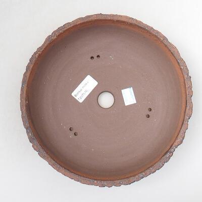 Bonsaischale aus Keramik 22 x 22 x 6 cm, Farbe rissig - 3
